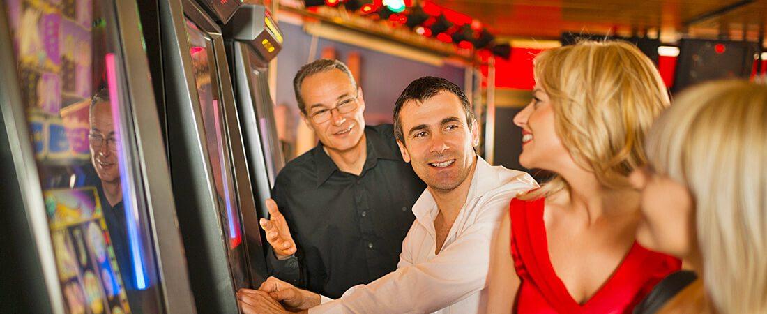 people gambling at Blue Water Casino