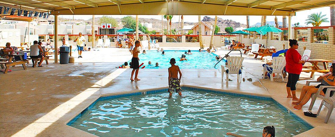 kids using Poolside WiFi at Emerald Cove ResortEmerald Cove Resort - Wifi Access