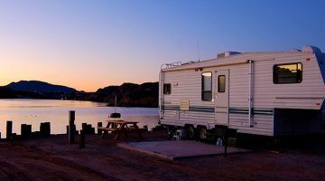 RV Sunset on the Beach - Emerald Cove Resort